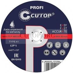Отрезные круги по металлу  CUTOP profi